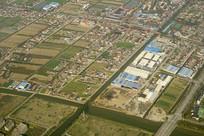 航拍上海浦东郊外的城市建筑