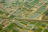 航拍上海浦东远郊的田园