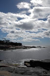 蓝天白云太平洋