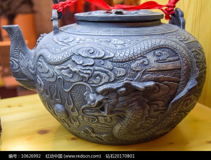 龙纹茶壶工艺品展示图片
