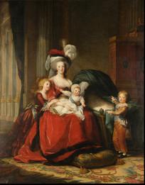 西方油画法国王后玛丽安托瓦