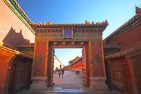 北京紫禁城的长康左门门楼