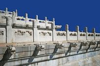 北京紫禁城的汉白玉栏杆