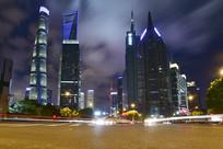 上海陆家嘴夜景