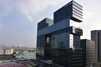 上海天悦中心大厦的建筑外立面