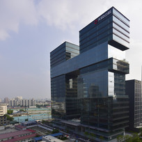 上海天悦中心的建筑外观