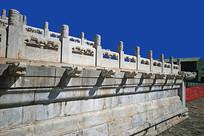 紫禁城-汉白玉栏杆-龙头雕塑