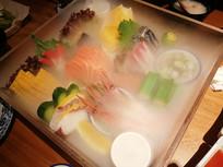 海鲜刺身美食图片