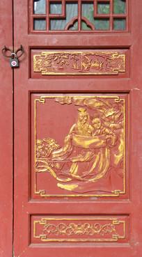 四川元通古镇传统人物金漆木雕