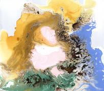 流彩水墨抽象画