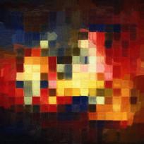 色块抽象画素材