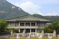 韩国的总统府青瓦台建筑外景