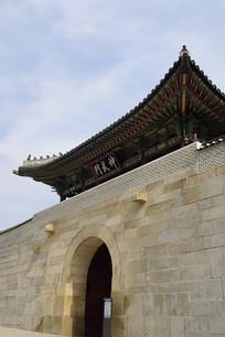 韩国景福宫的北门神武门