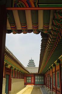 韩国景福宫及民俗博物馆塔楼