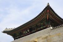 韩国景福宫神武门城楼及牌匾