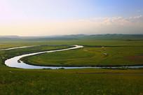 中俄界河额尔古纳河太极湾