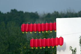 两排红灯笼