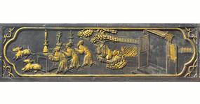 中国传统金漆木雕-祭祀场景