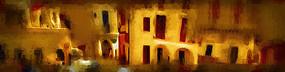 房子抽象油画