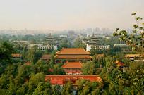 俯拍寿皇殿原址的北京少年宫