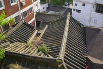 韩国北村韩屋村传统住宅俯拍