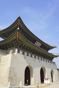 韩国景福宫宫门正门光化门