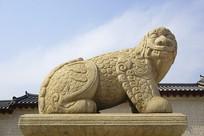 韩国景福宫光化门獬豸像