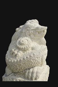 韩国景福宫龙形兽石刻