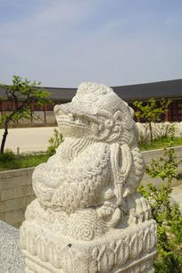 韩国景福宫勤政殿龙形兽石刻