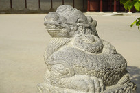 韩国景福宫勤政殿石刻-龙形兽