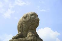韩国景福宫勤政殿石刻-羊形兽