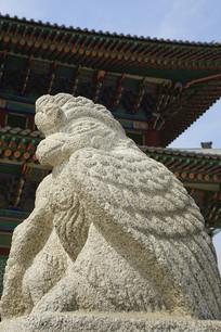 韩国景福宫勤政殿石刻-鹰形兽
