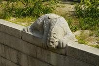 韩国景福宫勤政殿石刻-镇水兽