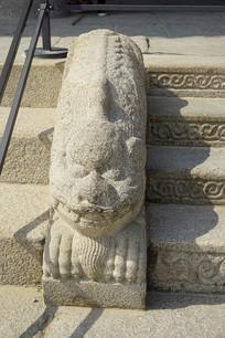 韩国景福宫勤政殿狮形兽石刻