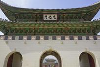 韩国景福宫正门光化门门楼