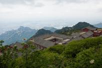 泰山玉皇顶中国特色寺庙建筑