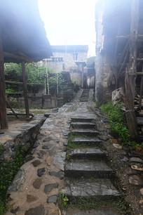 瑶里古镇乡间石板路