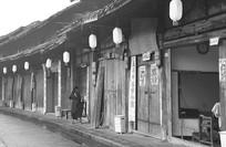 老成都传统理发店及街道