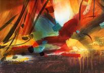 印象抽象油画