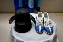 韩国传统再嘉礼礼服鞋帽特写