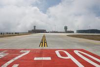 建设中的巫山机场跑道标志