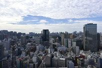 东京风光的建筑林