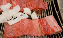 韩国烧烤新鲜食材牛肋间肉