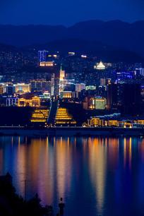 华丽的巫山县城夜景