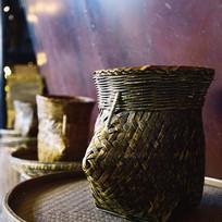 老式的竹编篮子