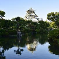 日本大阪城公园景观
