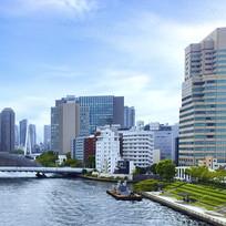 日本东京的城市建筑风光