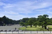 日本皇居外苑的景色
