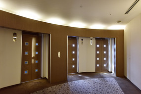 时尚的电梯厅
