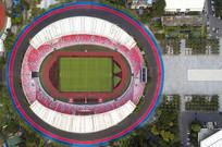 广州天河体育场鸟瞰